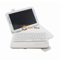 Removable Bluetooth Keyboard Leather Stand Case for Samsung Galaxy Note 8.0 N5100 N5110 - White
