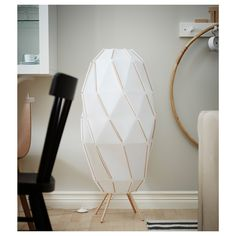 IKEA - SJÖPENNA, Floor lamp, white, Creates a soft, cozy mood light in your room. Light source is sold separately. At Home Furniture Store, Modern Home Furniture, Ikea, Mood Light, Light Bulb, Plastique Recyclable, White Floor Lamp, Led Lampe, Lamp Design