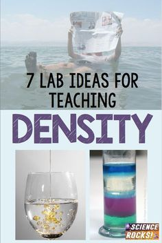 7 lab ideas for teaching density from Science Rocks – Education 8th Grade Science, Science Curriculum, Elementary Science, Science Classroom, Science Lessons, Science Education, Teaching Science, Science Experiments, Science Labs