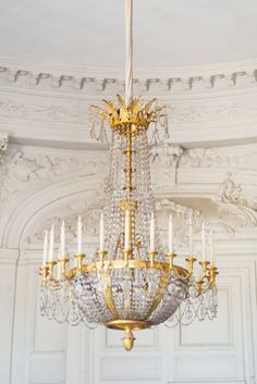 Paris Photography - Versailles Chandelier, Gold and White Home Decor, French Travel Photograph, Elegant Wall Decor on Etsy, $30.00