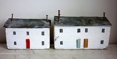 driftwood cottages with slate roofs