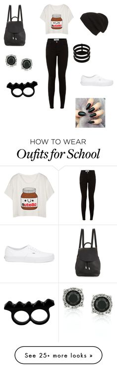 """""""Nutella schools days"""" by theycallmepoopey on Polyvore featuring Vans, rag & bone, Phase 3, Repossi, Mark Broumand and L'Artisan Créateur"""
