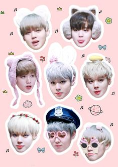 박지훈 워너원 Park Jihoon Wanna One Exo Stickers, Bubble Stickers, Printable Stickers, Cute Stickers, Foto Bts, Kpop, Baby Park, Got7 Fanart, Bts Face