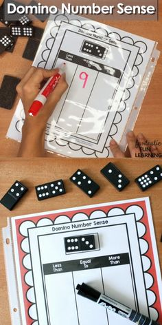 Math games 125749014583832986 - This free printable domino number sense activity makes a great dry erase math center activity for kindergarten and first grade. Source by shaunnaevans Kindergarten Math Games, Math Games Grade 1, Subitizing Activities, Free Math Games, Number Sense Kindergarten, Number Sense Activities, Insect Activities, Math Games For Kids, Numeracy