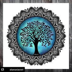 I made a tree of life mandala for the prompt nature mandala of the 🌳🌳 I hope you like this tree of life as much as I… Mandala Art Lesson, Mandala Artwork, Mandala Painting, Doodle Art Drawing, Mandala Drawing, Zen Doodle, Madhubani Art, Madhubani Painting, Dibujos Zentangle Art