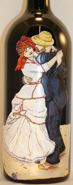 Etched and hand painted Renoir by Candice Norcross. Available through Handmade at Amazon.