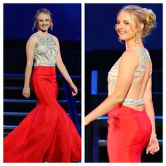 Miss Gavilan Hills Outstanding Teen 2015, Jacqueline Trafton, in her evening gown from Mia Bella at the Miss California America pageant.