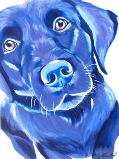 Purple Labrador Painting 12*16 by CreatedbyKelseyArt on Etsy! colorful original animal art dog puppy