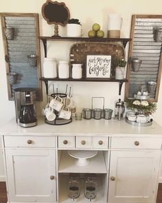 as the weather gets colder and the days are getting shorter, coffee is one good idea. In many cases, people often push their large coffee maker into the corner or along the side of the wall in your kitchen where there is a free kitchen table space. If Looking for some ideas and inspiration from the coffee station? Here you will find a home coffee bar, DIY coffee bar, a kitchen coffee shop and many more ideas to suit your needs and style. Continue Reading → #coffeestationideas
