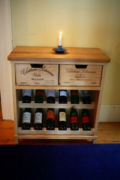 Amazing wine crate creations from Bois Rustique! www.etsy.com/…