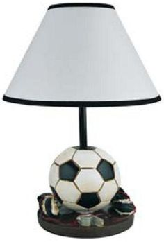 Soccer Ball & Cleats Welcome to the Manor: Sports themed Table Lamps