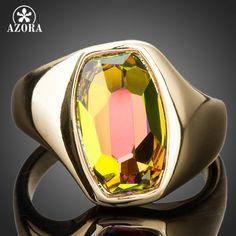 Azora último diseño de marca de oro de color degradado de color brillante anillo de cristal austriaco stellux tr0140