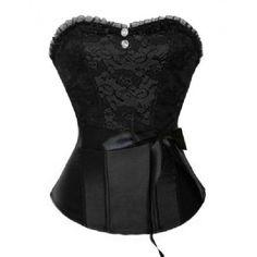 Elegant Black Lace Corset - Corset tops