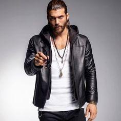 Biker Leather, Leather Men, Leather Jacket, Beautiful Men Faces, Gorgeous Men, Beautiful Smile, Stylish Men, Men Casual, Leather Fashion