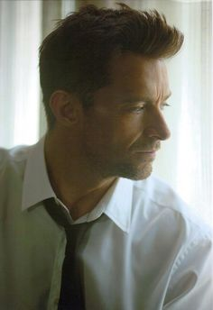 Hugh Jackman. His hair is magnificent and his profile jeez! :D