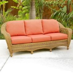400s Port Royal Sofa Cushions Wicker Dresser Couch Shelf