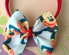 Tiara Vermelha Laço Mickey