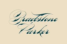 Bradstone-Parker Script by Intellecta Design on @creativemarket