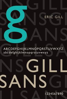 gill sans type poster