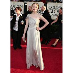 Amanda Seyfried Silver Grey Form Dress at 2009 Golden Globe Awards Red Carpet