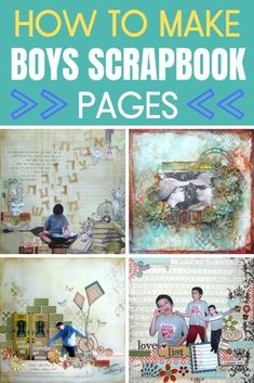 How to make boys scrapbook pages for all your boys photos Scrapbook Designs, Scrapbook Page Layouts, Scrapbook Pages, Heritage Scrapbooking, Photo Album Scrapbooking, Scrapbooking Ideas, Little Boy Blue, Easy Craft Projects, Diy Crafts