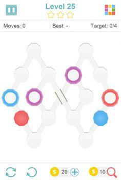 Discolors обесцвечивает мозговой штурм, где игрок должен заполнить многоугольники с соответствующими цветами, перетаскивая их из уже заполненной многоугольника. Иногда необходимые цвета не на доске, а игрок должен смешивать цвета. Это достигается путем перетаскивания цвета в многоугольник другого цвета.  Источник: http://games-topic.com/147-discolors.html