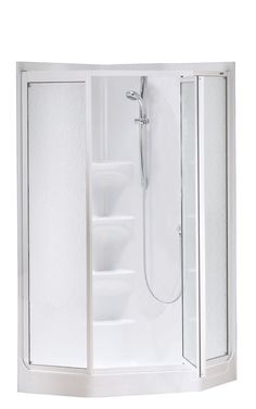 one piece corner shower. Boreal II 1 Piece Shower Stall In White One Corner Stalls  MASSAGE WALL PANEL JETS 6 TOP
