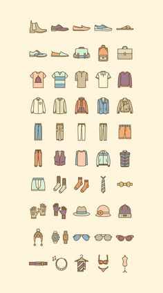 Fashion icon set on Behance