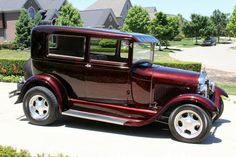 1929 Ford Model A Sedan Street Rod-302 V8, 4 speed auto....Re-pin brought to you by agents of #Carinsurance at #HouseofInsurance in Eugene, Oregon