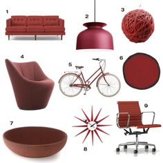 Pantone Color of the Year 2015: Marsala Colored Home Furnishings