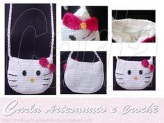 Bolsa infantil Hello Kitty crochet