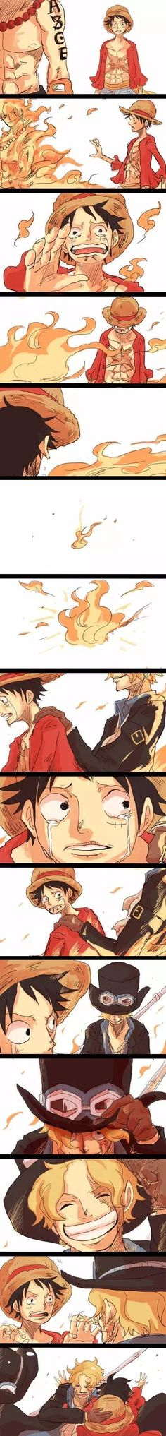ASL brothers Monkey D. Luffy, Portgas D. Ace, and Sabo One piece