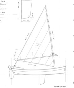 """Spike skiff 12' 3"""". Plans include 3 sheets with instructions."""