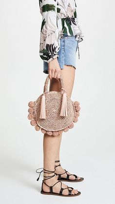 Loeffler Randall Straw Circle Tote | SHOPBOP - #womenshandbags #womens#handbags
