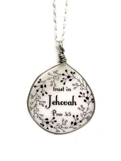 Trust in Jehovah in Silver  necklace  JW  JW.ORG pioneer