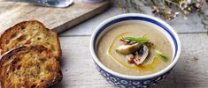 Μανιταρόσουπα Μπάρμπα Στάθης Hummus, Meat, Chicken, Ethnic Recipes, Food, Essen, Meals, Yemek, Eten