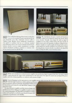 Quad 22 and 33 Audiophile Speakers, Hifi Audio, High End Audio, Cool Tech, Loudspeaker, Audio Equipment, Quad, Music Images, Vintage Ads