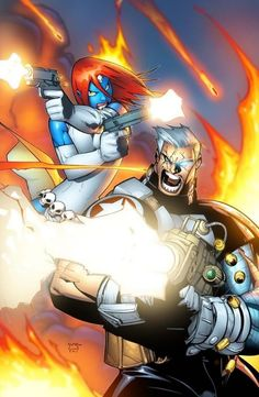 CABLE & Mystique by Humberto Ramos