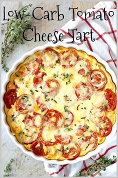 This simple Gluten-Free Tomato Cheese Tart is a breeze to throw together and makes perfect use of garden tomatoes! Quiche Recipes, Brunch Recipes, Veggie Recipes, Low Carb Recipes, Vegetarian Recipes, Breakfast Recipes, Healthy Recipes, Beet Recipes, Yummy Veggie