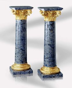 Lepanto Column in marble and 24K gold plated bronze by Baldi Home Jewels #HomeJewels #marble #luxury #luxuryfurnitures #classicdesign #classicfurnitures