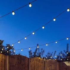 Low voltage festoon lights with 20 warm white LED bulbs per 8 metre length, perfect for indoor and outdoor use. Our versatile LED festoon lights have unlimited uses and come with our 12 month warranty. Ideal places to use these lights are in be Outdoor Fairy Lights, Outdoor Garden Lighting, String Lights Outdoor, Garden Fairy Lights, Small Garden Lights, Small Garden Party Ideas, Garden Lighting Ideas, Garden Lighting Festoon, Garden Lighting Bulbs