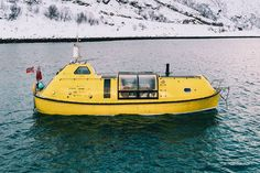 Two architects, their dog and a repurposed Scottish Lifeboat on a 5,000 km journey of a lifetime! | Yanko Design Nova Scotia Duck Tolling, The Longest Journey, Off Road Adventure, Cool Boats, Norway Travel, Tromso, Arctic Circle, Boat Building, Architect Design