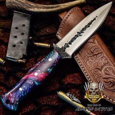 ALONZO KNIVES USA CUSTOM HANDMADE TACTICAL HUNTER DAGGER 1095 KNIFE CORELON 779 #AlonzoKnives Cool Knives, Knives And Tools, Knives And Swords, Knife Aesthetic, Edc Tools, Fixed Blade Knife, Tactical Knives, Custom Knives, Wishing Well