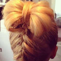 Pin up. French plait into a bow