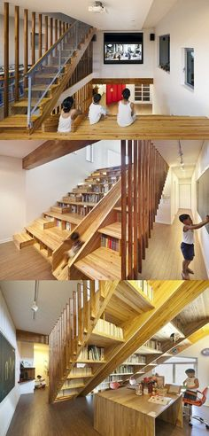 great multi-use staircase space!