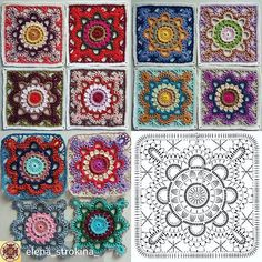 Transcendent Crochet a Solid Granny Square Ideas. Inconceivable Crochet a Solid Granny Square Ideas. Crochet Motifs, Granny Square Crochet Pattern, Crochet Diagram, Crochet Chart, Crochet Granny, Crochet Squares, Crochet Blocks, Crochet Blanket Tutorial, Crochet Blanket Patterns