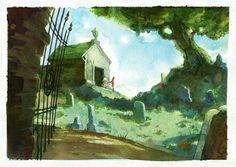 "Inspired by Neil Gaiman's ""The Graveyard Book"", when Bod takes Scarlett into the graveyard for the first time. The Graveyard Book: Chapter 2 The Graveyard Book, Gothic Horror, Bat Mitzvah, New Friends, Illustrators, Illustration Art, 1, Deviantart, Books"