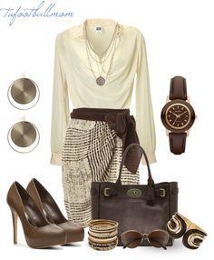 Drape blouse & browns