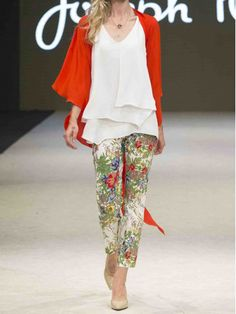 40a4937b2a5 Fab pull on floral pant from Joseph Ribkoff. Frocks