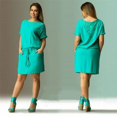 2016 летнее платье Большой размер женской одежды больших размеров свободный зеленый кружевном платье большого размера короткое платье 6XL свободного покроя женщины одеваютсякупить в магазине Fish FashionнаAliExpress